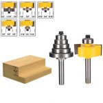 1/4 Inch Shank Alloy Rabbet Router Bit with 6pcs Bearings Set