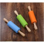 Non-Stick Silicone Rolling Pin Kitchen Pastry Dough Flour Bread Cooking Bakeware Tool