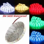 3M 54W DC 12V 180 SMD 5630 Waterproof White/Warm White/Red/Green/Blue LED Strip Flexible Light