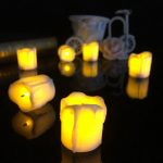 4.3 4.5cm Battery Powered Flameless LED Candle Tea Night Light Halloween Christmas Decoration