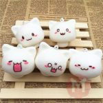 Squishy Toys Mushroom Cat Kawaii Cartoon Cute Face Decor Bag Cellphone Straps