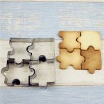 4pcs Stainless Steel Cake Mold Puzzle Piece Pastry Cookie Cutter Biscuit Baking Tools Accessories