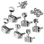 6Pcs Guitar String Tuning Pegs Chrome Machine Heads Guitar Accessories