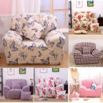 Two Seater Textile Spandex Strench Flexible Printed Elastic Sofa Couch Cover Furniture Protector