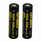 2pcs Basen BS186M 18650 3500mah 3.7V 30A High Drain Flat Top Rechargeable Li-ion Battery