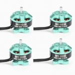 4X Racerstar Racing Edition 1103 BR1103B 10000KV 1-3S Brushless Motor Green For 50 80 100 Mini Frame