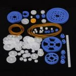 80pcs Plastic Gear Motor Gear DIY Gearbox Robot Model Single Double Layer Crown Gear Spindle Set