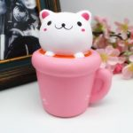 Squishy Jumbo Teacup Cat Kitten 14cm Slow Rising Soft Animal Pet Collection Gift Decor Toy
