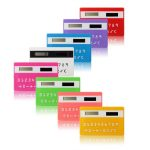 Colorful Small Slim Pocket Calculator Solar Power Stationery Card Portable Calculator Mini Handheld Ultra-thin Card Calculator