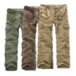 ChArmkpR Mens Military Outdoor Loose Large Size Cotton Multi-pockets Cargo Pants
