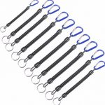 10pcs/lot Fishing Lanyards Boating Blue Ropes Secure Pliers Lip Grips Fish Tackle