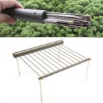 IPRee Outdoor Portable BBQ Grill Folding Barbecue Support Stand For Picnic Camping Stove Utensils