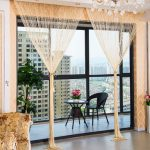 1.0×2.0m Glitter String Bead Door Curtain Panels Fly Screen Room Divider Voile Curtains Net