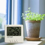 Digital Indoor Desktop Thermometer LCD Display Alarm Clock Humidity Hygrometer