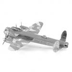 Aipin DIY 3D Puzzle Stainless Steel Model Kit Avro Lancaster Silver Color