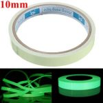 Self Adhesive Green Luminous Tape Waterproof Photoluminescent Tape 10mm Wide Glow In The Dark Stage Home Decor