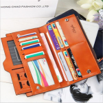 Women Fashion PU Multi-functional Card-slots Handbag Wallet Bag For Smartphone Below 5.5 Inch