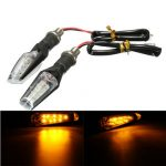 Pair Universal Motorcycle Bike LED Turn Signal Indicator Running Light Lamp