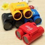 Kid Children's 2.5 x 26 Magnification Toy Binocular Telescope Neck Tie Strap