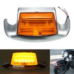 Front Fender Tip Light With Amber Light Lens For Harley Davidson FLT FLHR FLSTC FLSTN