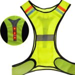 Sports Running Jogging Reflective Led Vest Waistcoat Exercise Safety Warning Suit High Visibility