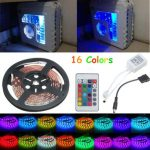 0.5/1/1.5/2M RGB 5050 16 Colors LED Strip Computer Chassis Lights Remote Control