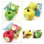 Sanqi Elan Simulation Cute Apple Soft Squishy Super Slow Rising Original Packaging Ballchain Kid Toy