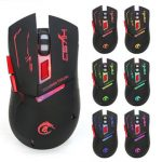 X30 2.4G 6D 2400dpi 7 Color Breathing Lamp Wireless Ergonomic Gaming Mouse
