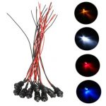 10pcs 12V 5mm Pre-Wired Constant LED Bright Water Clear Bulb with Plastic Shell
