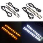 Pair 12V 5050 9LED Motorcycle Turn Signal Running Marker Indicator Blinker Light