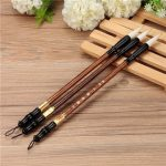 3PCS Chinese Calligraphy Painting Brushes Set Pen Woolen Weasel Hair