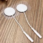 16pcs Round Replacement Electrode Pads for TENS Machine Self-Adhesive Reusable Long Life