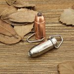 Astrolux TB-01 Bullet Copper/Stainless Steel 45LM Mini LED Keychain Flashlight