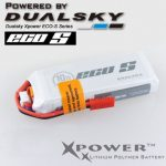 Dualsky XP08002ECO 800mAh 7.4V 2S 25C JST Lipo Battery