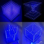 Geekcreit 8x8x8 LED Cube 3D Light Square Blue LED Electronic DIY Kit