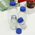 Experiment Glass Reagent Bottles Blue Screw Cap 100ml 250ml 500ml 1000ml