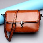 Women Retro Genuine Leather Shoulder Bags Girls Casual Crossbody Bags