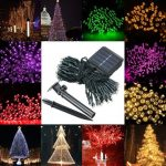 Waterproof Solar Powered 12M 100LED String Fairy Light Garden Party Xmas Decor