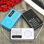 T205 Mini Digital FM Radio Speaker MP3 Music Player USB SD TF Telescopic Antenna