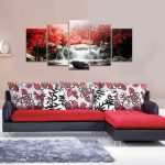 5 Cascade Mangrove waterfall Abstract Canvas Wall Painting Picture Home Decoration No Framed