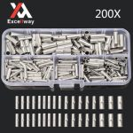 Excellway TC20 200Pcs Copper Butt Splice Connector 22-10AWG Tinned Crimp Terminal Kit