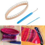 32 Peg Socks Wool Yarn Knitting Loom DIY Craft Wooden Weaving Tools