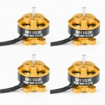 4X Racerstar Racing Edition 1103 BR1103B 8000KV 1-3S Brushless Motor Gold For 50 80 100 Mini Frame