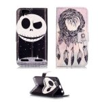 Flip PU Skin Leather Colored Drawing Pattern Protective Folding Back Case For Lenovo-K5