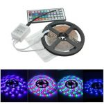 5M 300LED RGB 3528 LED Light Strip 44 Key IR Remote Controller 12V 2A