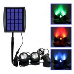 LED Waterproof Solar Powered RGB Landscape Spotlight Outdoor Security Night Light Fish Tank Lamp