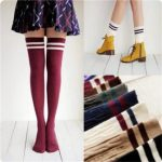 Cotton Child Baby Girls Knit Over Knee Thigh Stockings High Socks Pantyhose Tights