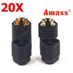 20 Pairs Amass MT60 Three-hole Plug Connector Black Male Female