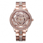 WEIQIN 3981 Fashion Women Quartz Wristwatch Luxury Rhinestones Flower Ladies Dress Watch