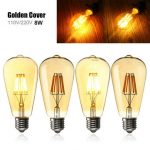 E27 ST64 8W Golden Cover Dimmable Edison Retro Vintage Filament COB LED Bulb Light Lamp AC110/220V